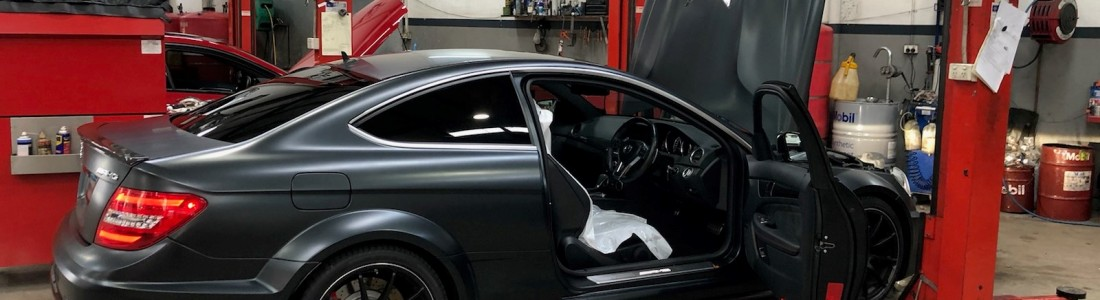 Mercedes C63 Black Series for a service!