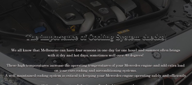 The importance of Cooling System checks!