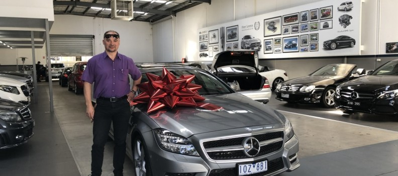 Delivering the CLS500 to Tony!