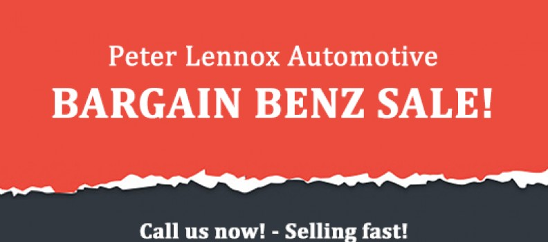 August 2019 Bargain Benz Sale!