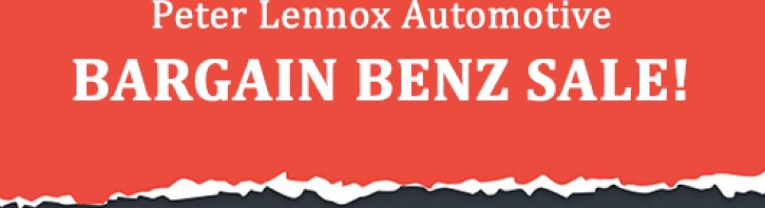 August 2019 Bargain Benz Sale!