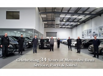 Celebrating 34 Years of Mercedes-Benz Service, Parts & Sales!