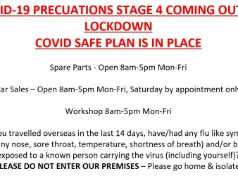 COVID-19 PRECUATIONS STAGE 4 COMING OUT OF LOCKDOWN