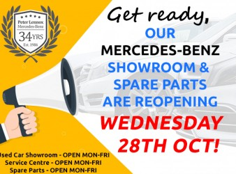 SHOWROOM & SPARE PARTS REOPENING!
