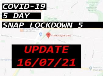 COVID-19: 20/07/21 UPDATE