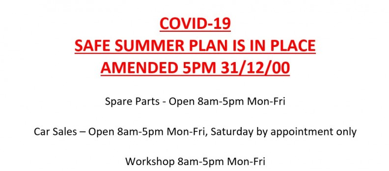 COVID-19 SAFE SUMMER PLAN 31/12/20